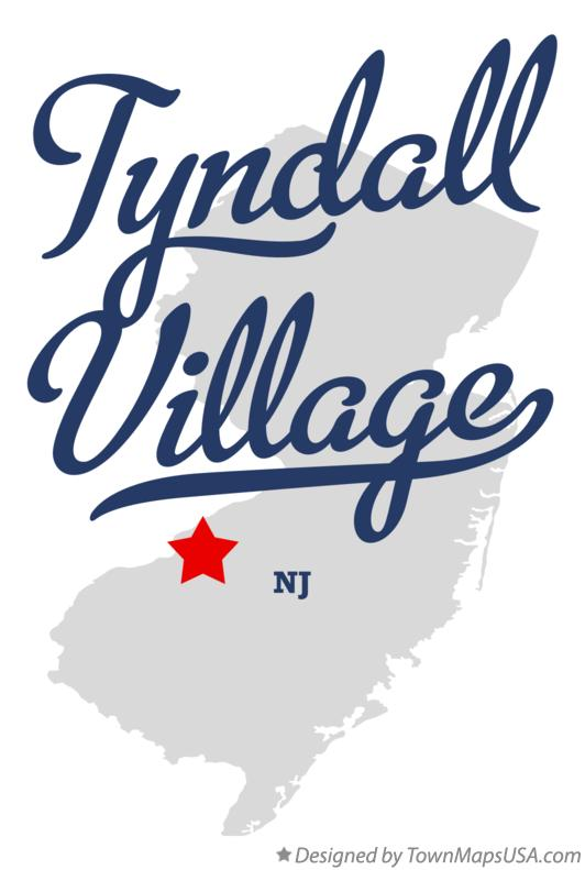 Map of Tyndall Village New Jersey NJ