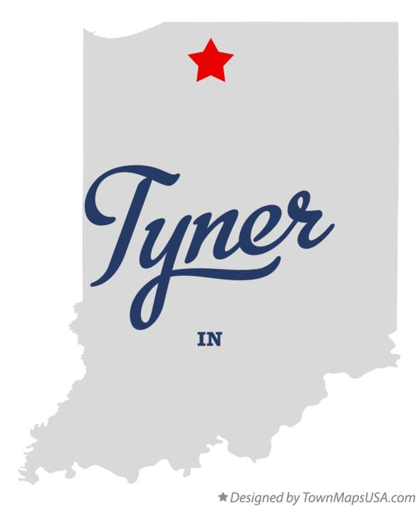 Map of Tyner Indiana IN