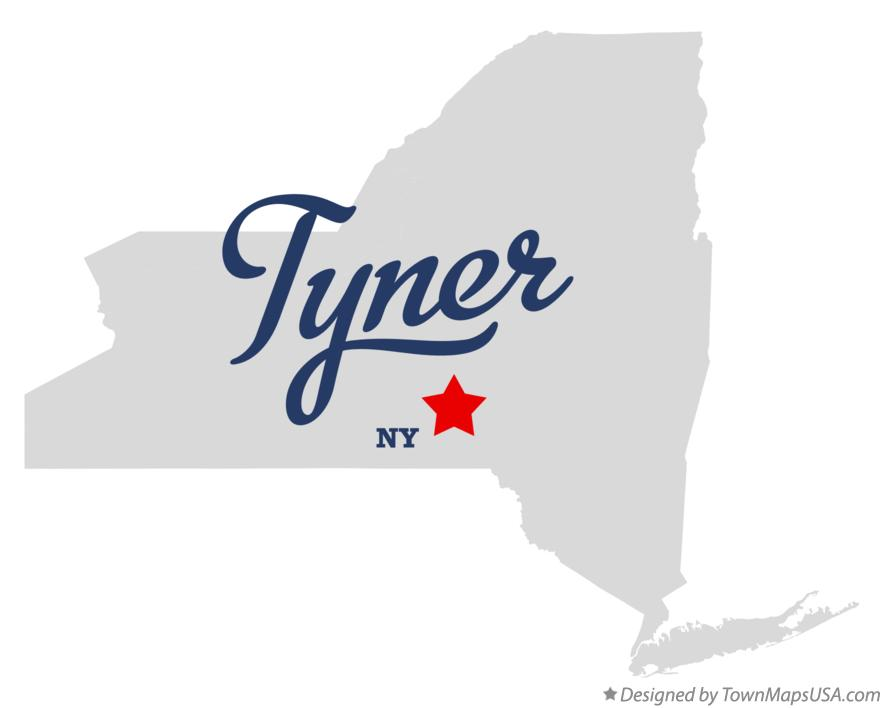 Map of Tyner New York NY