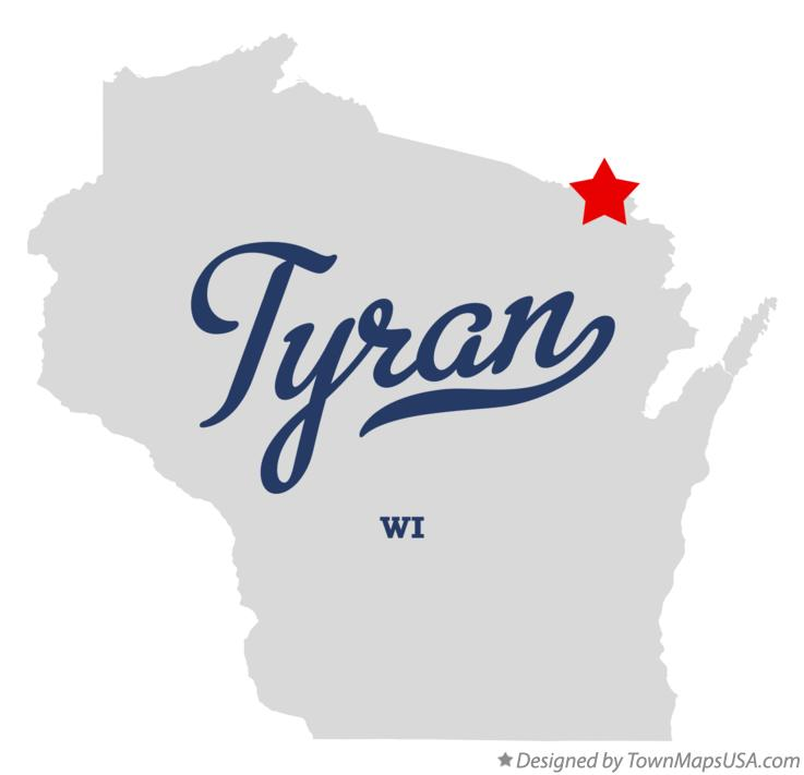 Map of Tyran Wisconsin WI