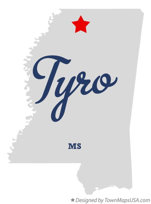 Map of Tyro Mississippi MS