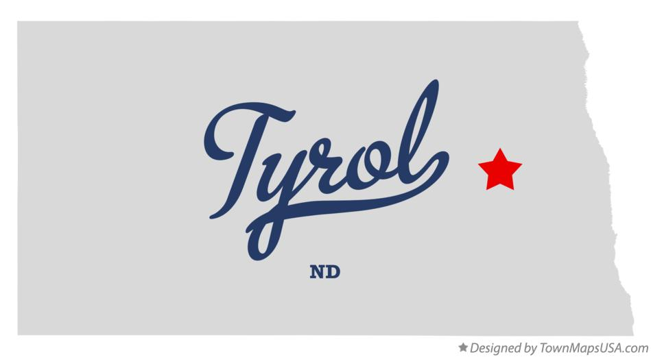 Map of Tyrol North Dakota ND