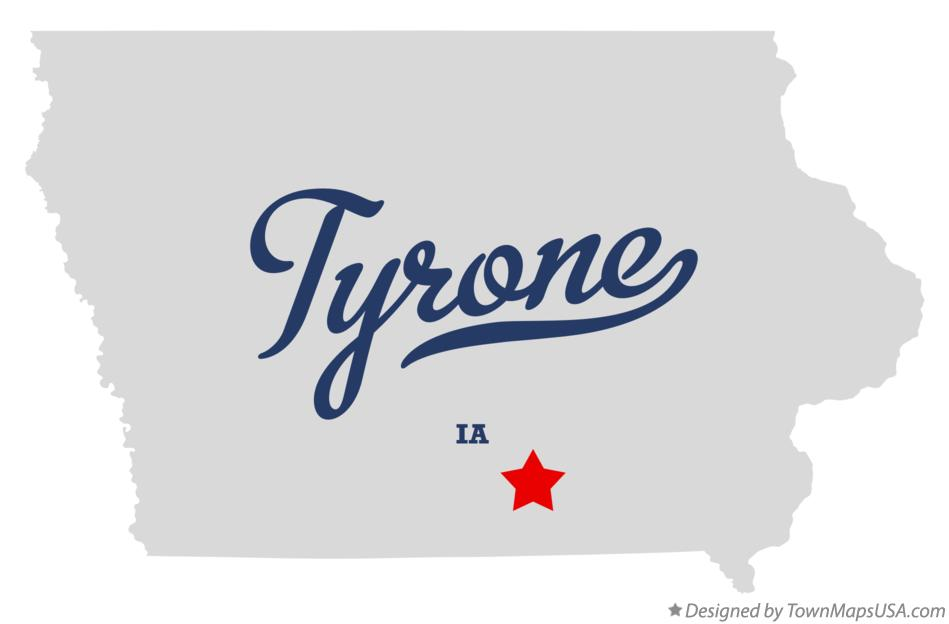 Map of Tyrone Iowa IA