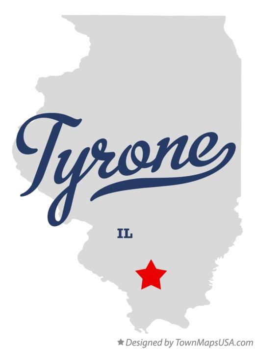 Map of Tyrone Illinois IL