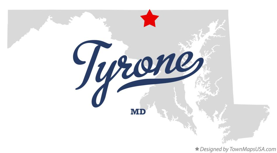 Map of Tyrone Maryland MD