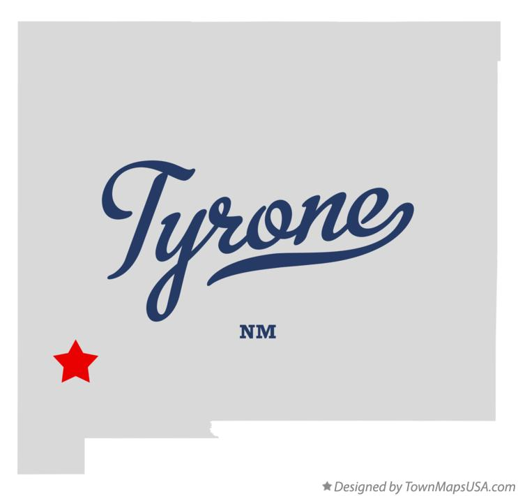 Map of Tyrone New Mexico NM