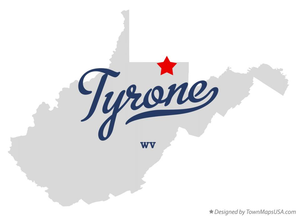 Map of Tyrone West Virginia WV