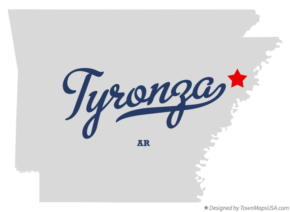Map of Tyronza Arkansas AR
