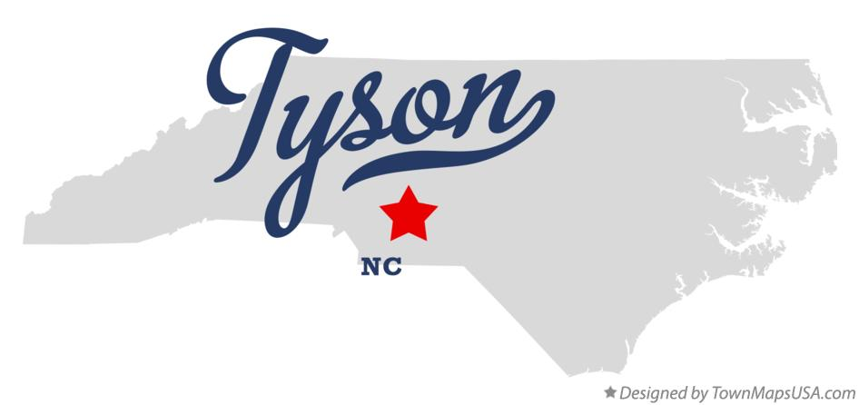 Map of Tyson North Carolina NC