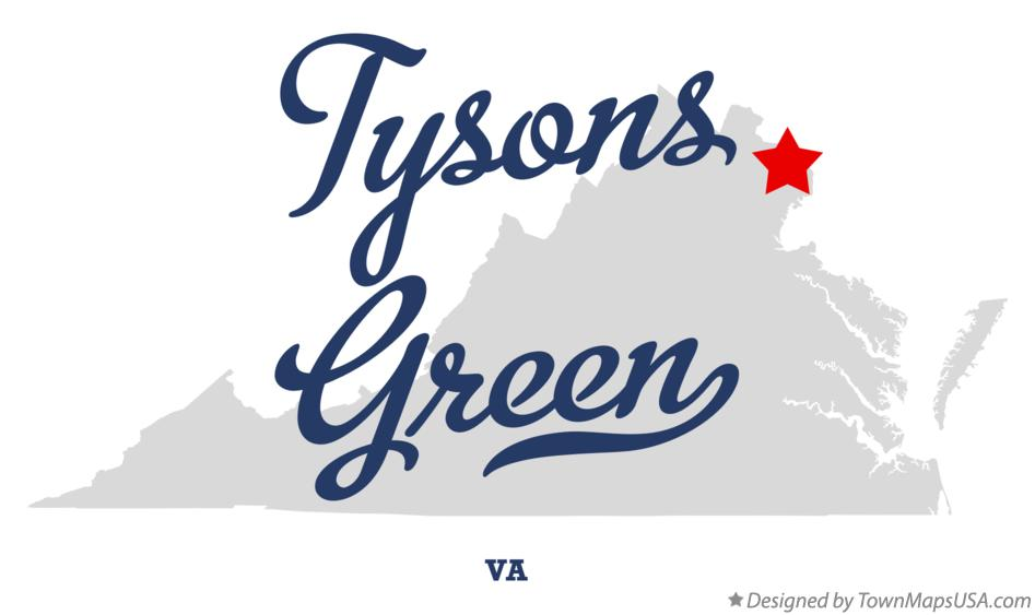 Map of Tysons Green Virginia VA