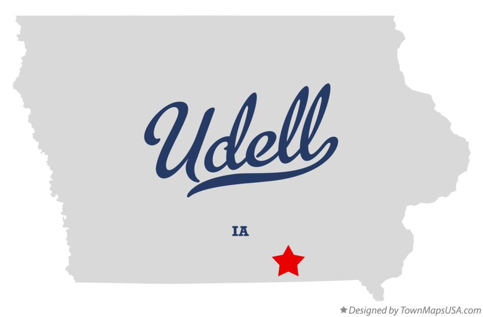 Map of Udell Iowa IA