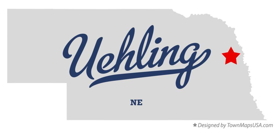 Map of Uehling Nebraska NE