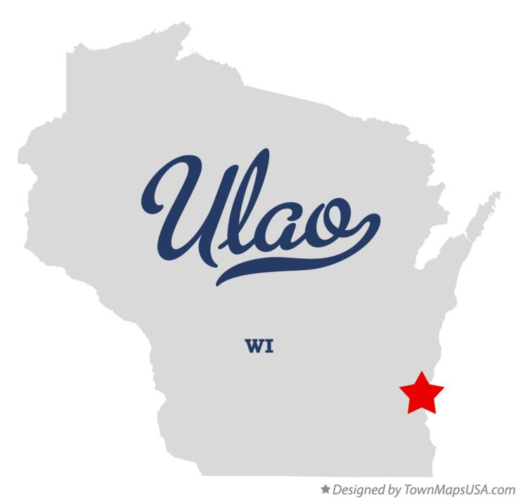Map of Ulao Wisconsin WI