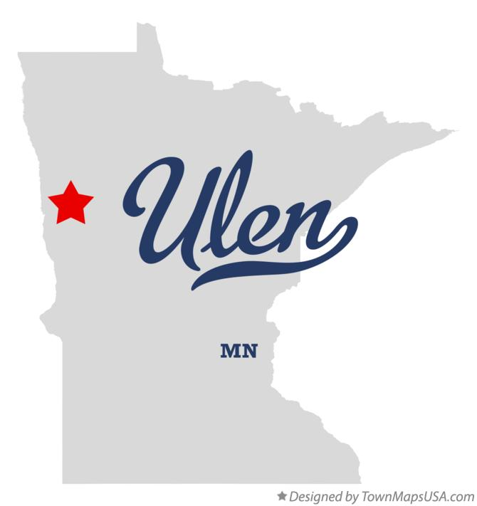 Map of Ulen Minnesota MN