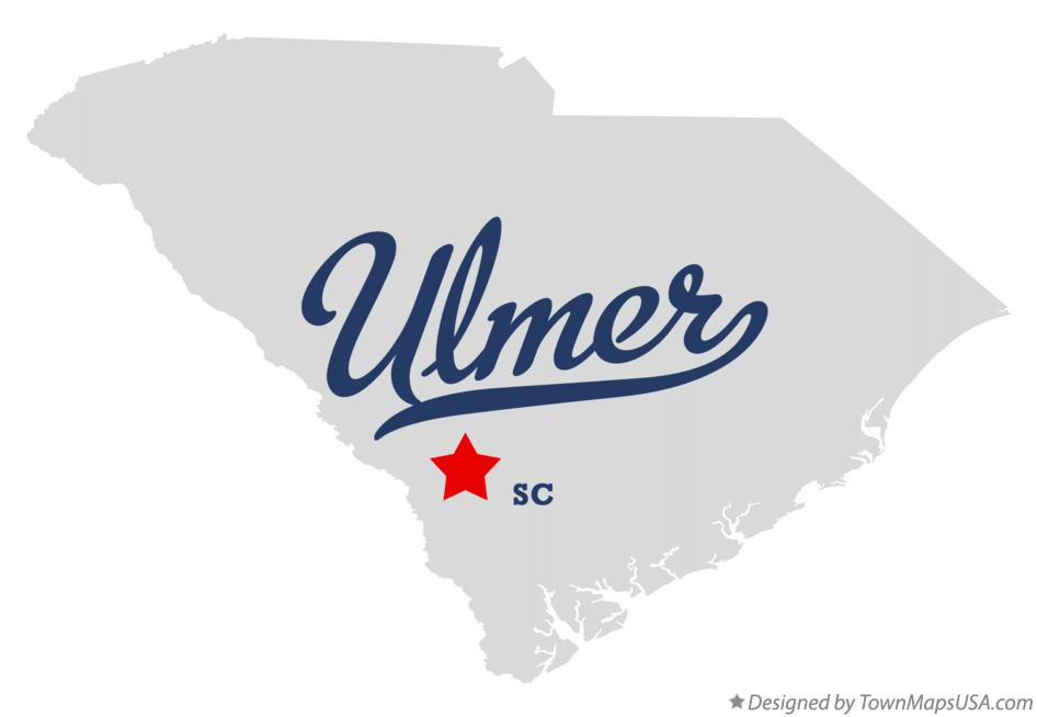 Map of Ulmer South Carolina SC