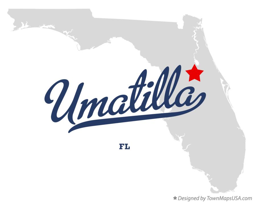 Map of Umatilla Florida FL