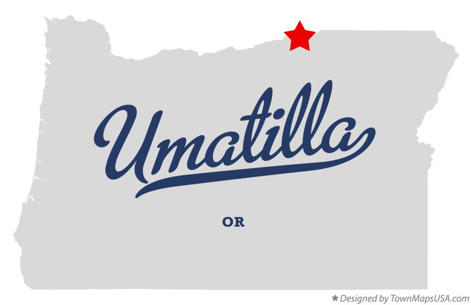 Map of Umatilla Oregon OR