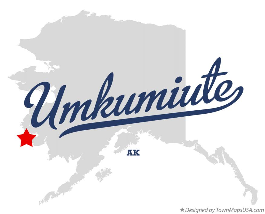 Map of Umkumiute Alaska AK