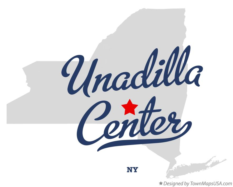 Map of Unadilla Center New York NY