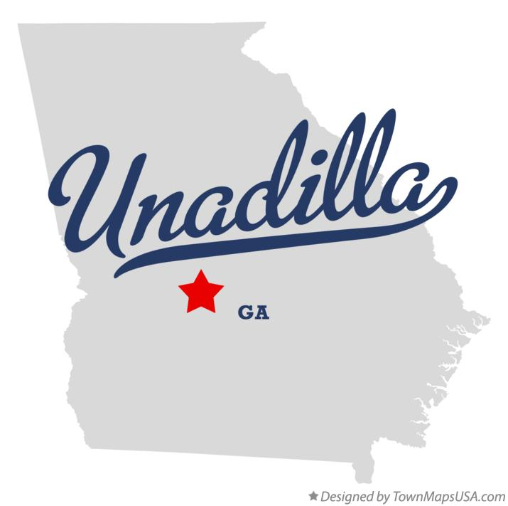 Map of Unadilla Georgia GA