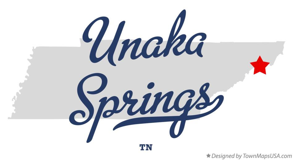 Map of Unaka Springs Tennessee TN