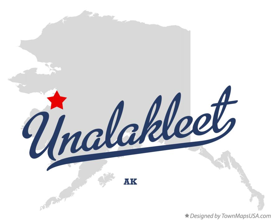Map of Unalakleet Alaska AK