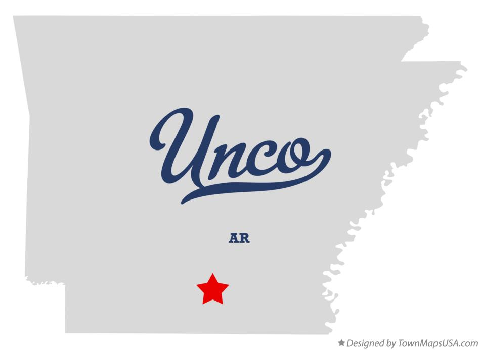 Map of Unco Arkansas AR