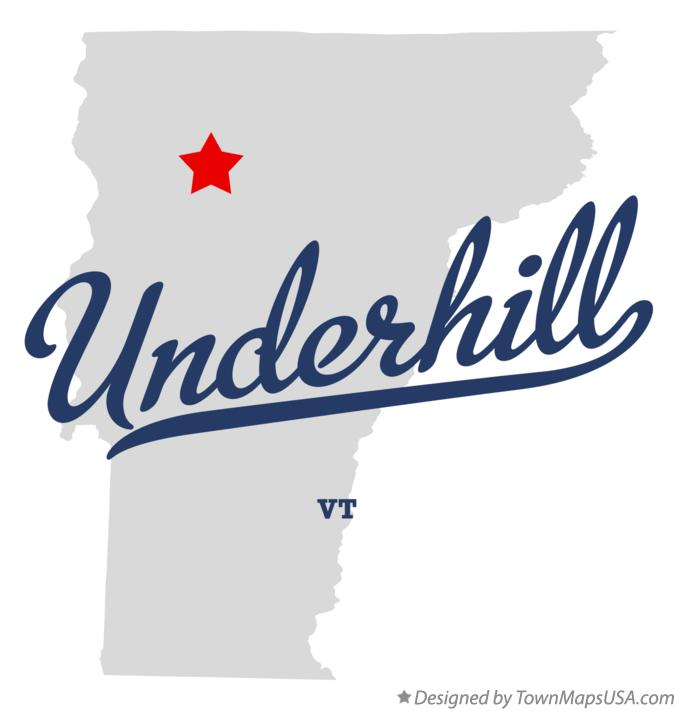 Map of Underhill Vermont VT
