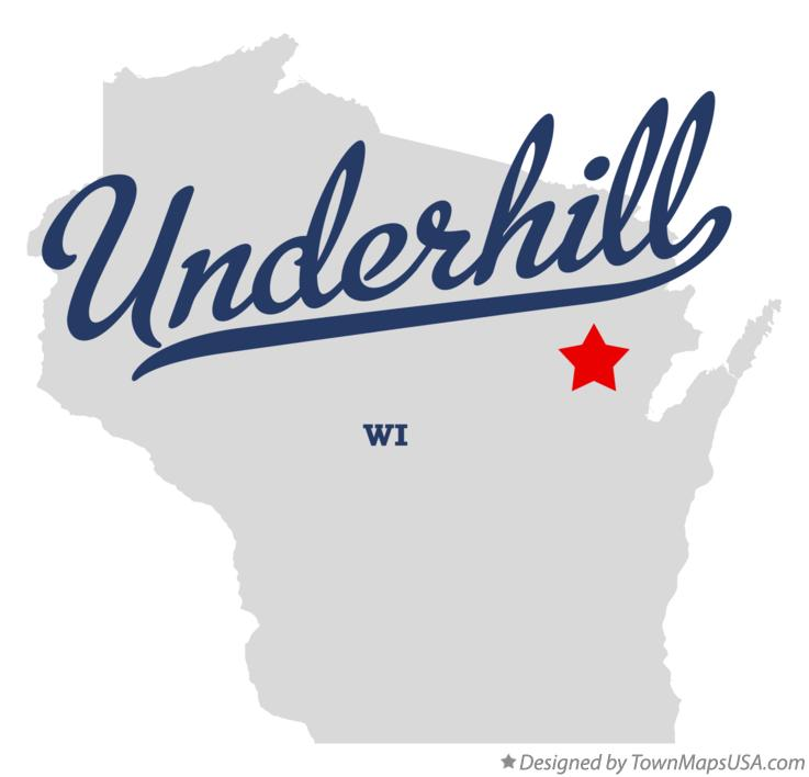 Map of Underhill Wisconsin WI