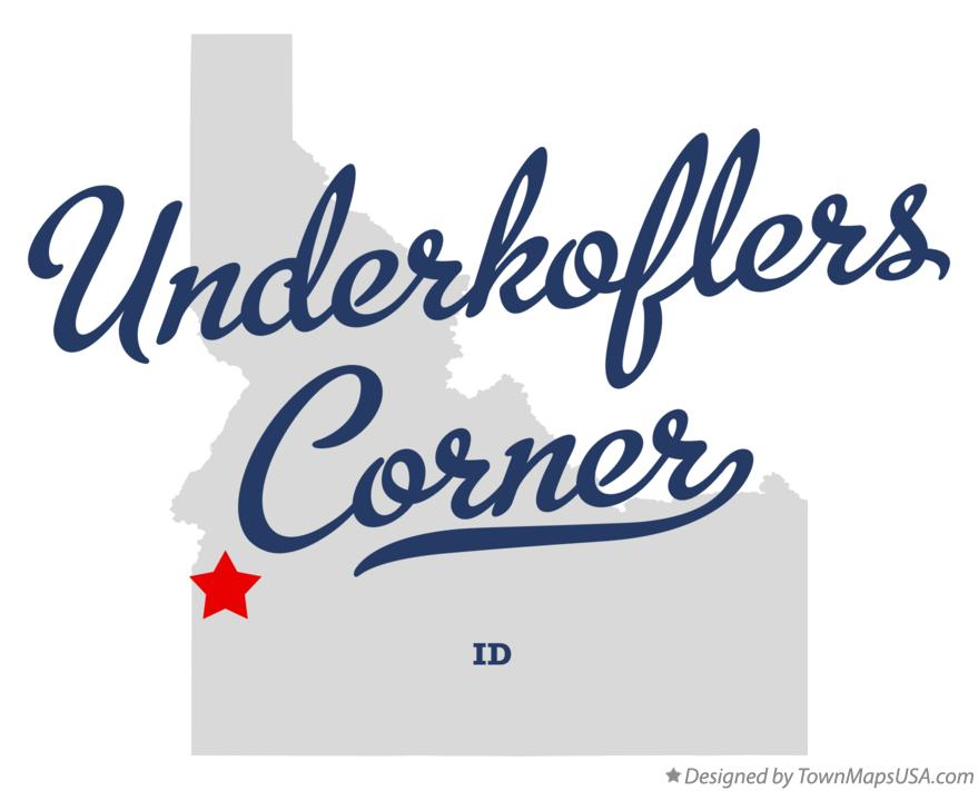 Map of Underkoflers Corner Idaho ID