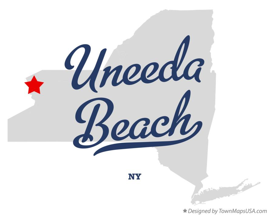 Map of Uneeda Beach New York NY
