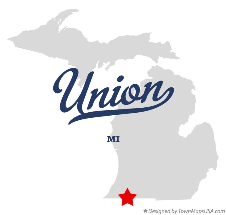 Map of Union Michigan MI