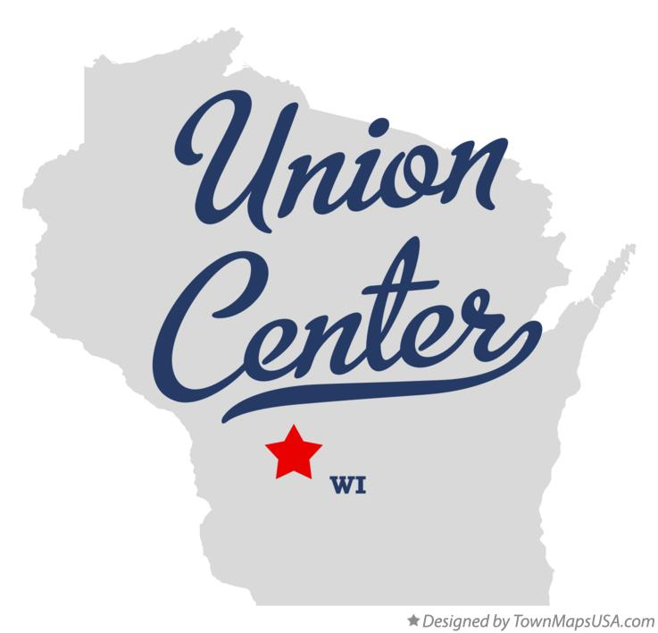 Map of Union Center Wisconsin WI