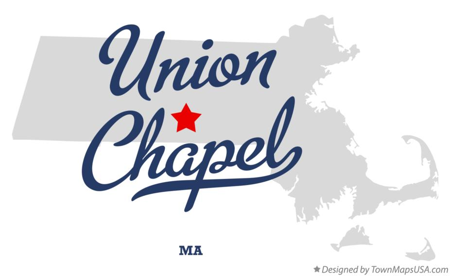 Map of Union Chapel Massachusetts MA