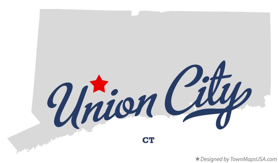 Map of Union City Connecticut CT
