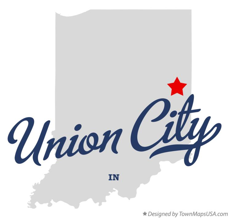 Map of Union City Indiana IN
