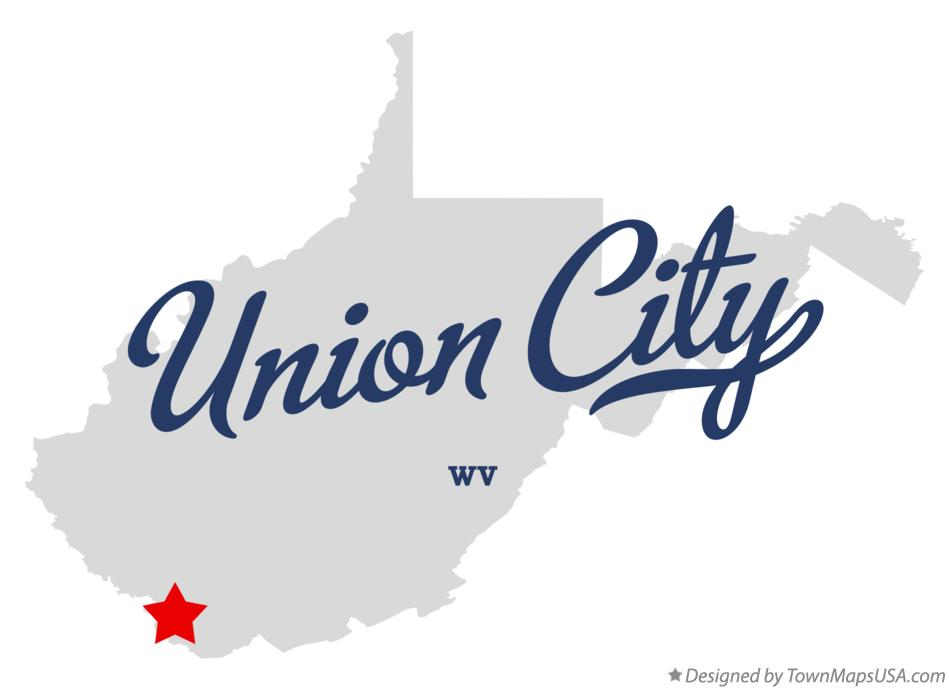 Map of Union City West Virginia WV