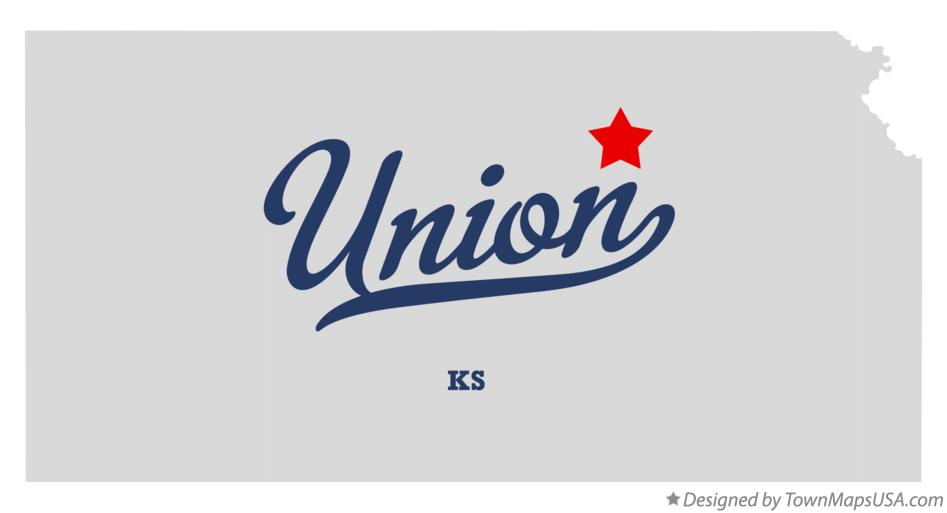 Map of Union Kansas KS