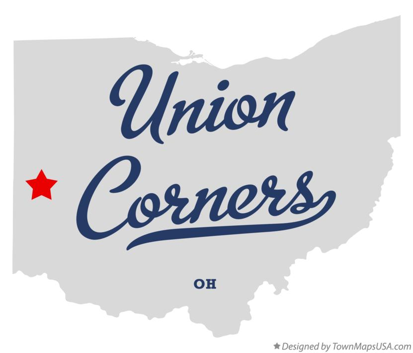 Map of Union Corners Ohio OH