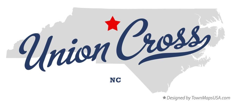 Map of Union Cross North Carolina NC