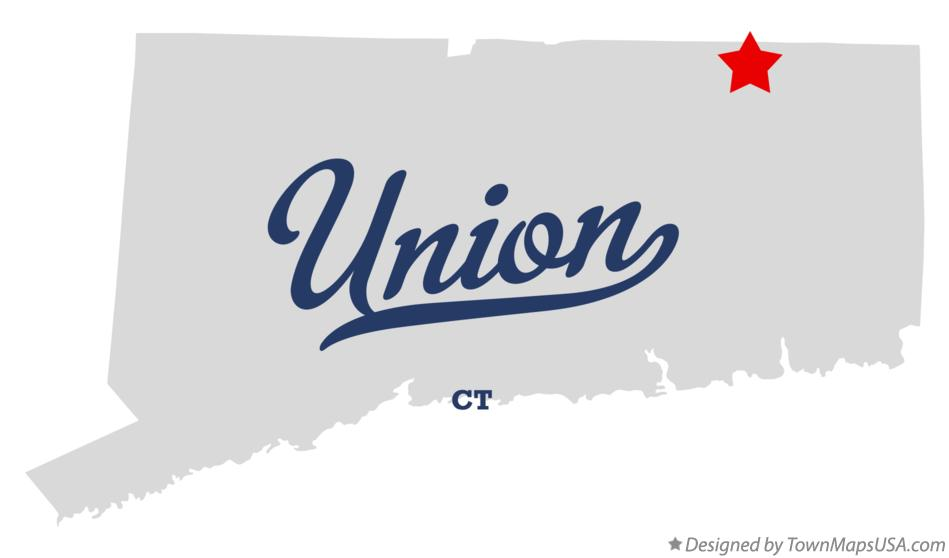 Map of Union Connecticut CT