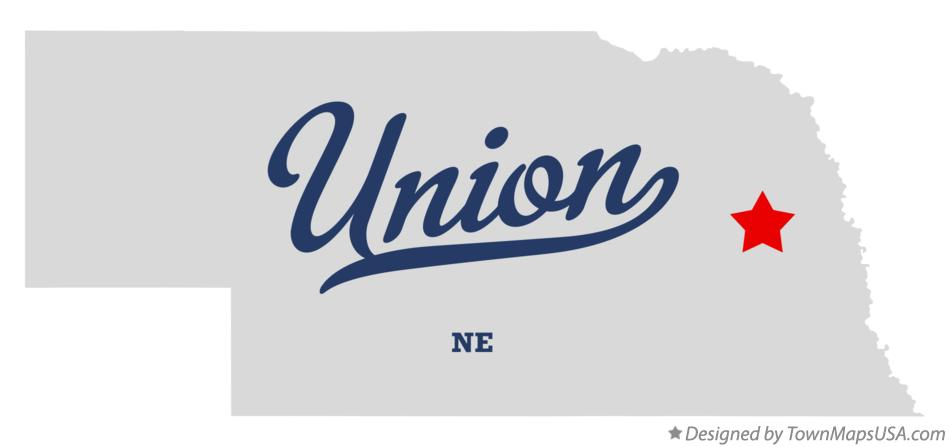 Map of Union Nebraska NE