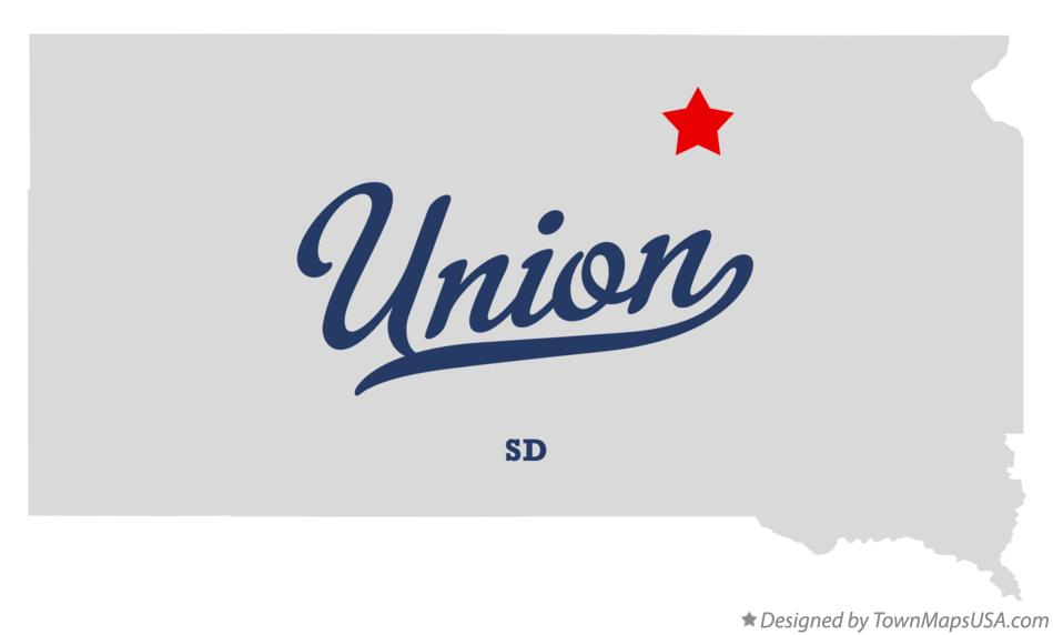 Map of Union South Dakota SD