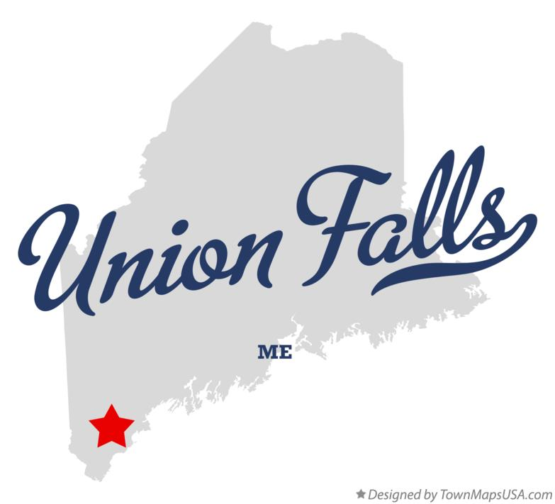 Map of Union Falls Maine ME