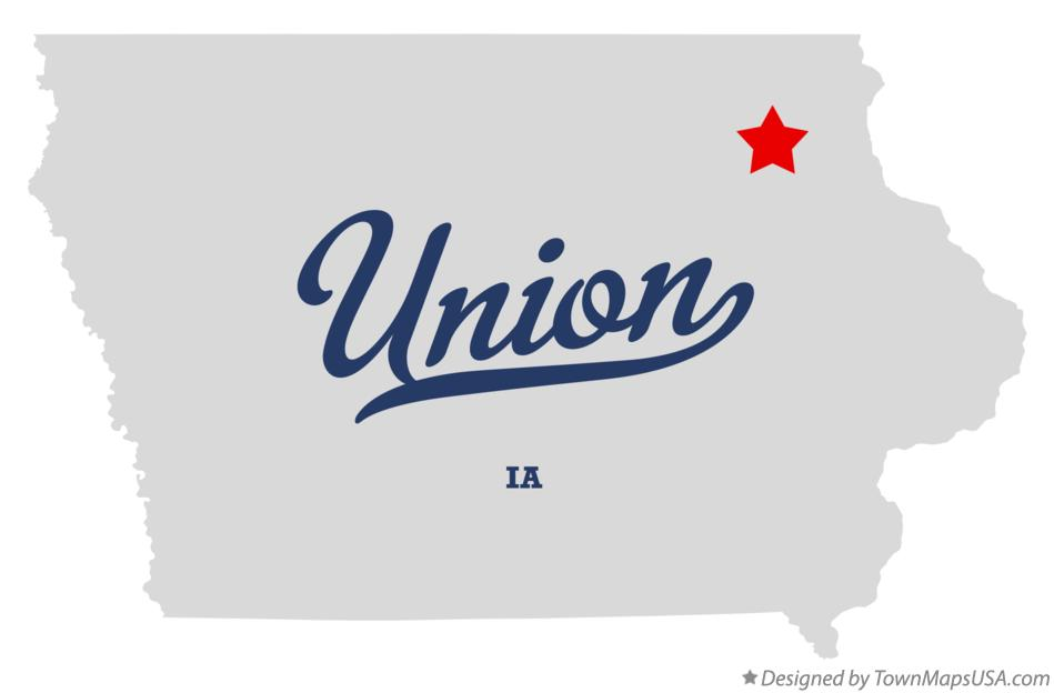 Map of Union Iowa IA