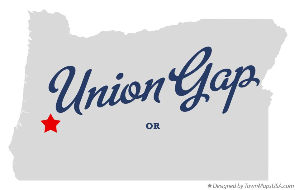 Map of Union Gap Oregon OR