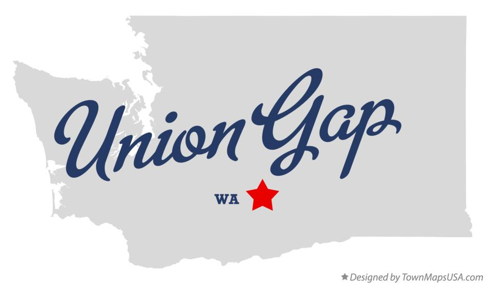 Map of Union Gap Washington WA