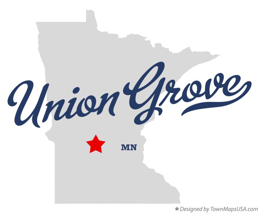 Map of Union Grove Minnesota MN
