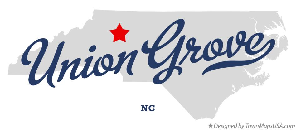 Map of Union Grove North Carolina NC