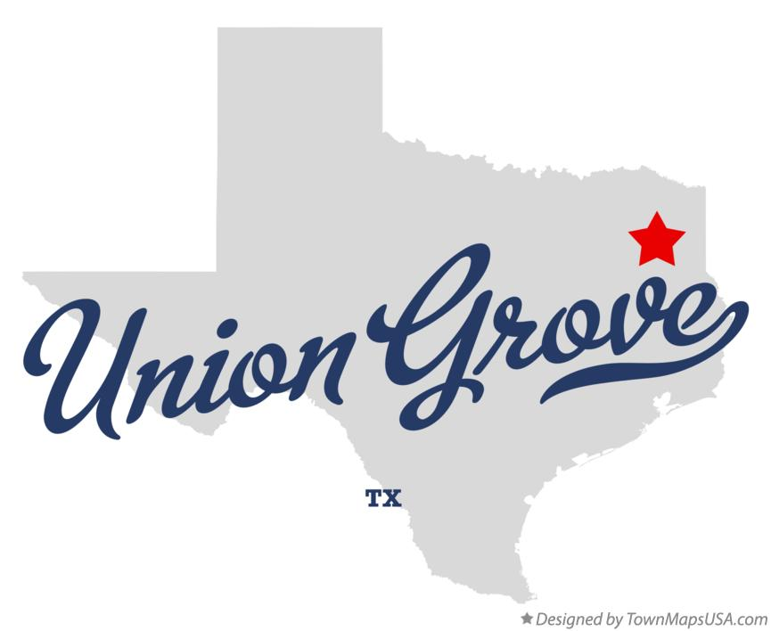 Map of Union Grove Texas TX